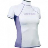 Лайкровая футболка Cressi женская с коротким рукавом, белая.