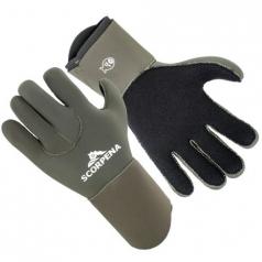 Перчатки Scorpena E полусухие - 5 мм, зеленые.