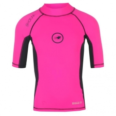 Лайкра HotTuna Rash Vest Girl Fluo pink