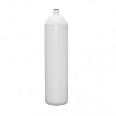 Баллон BTS 12л плоское дно, Стальной, 230bar, d171мм, белый, без вентиля и башмака